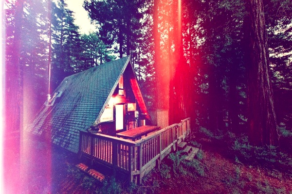 amazing-tiny-a-frame-cabin-in-the-redwoods-017-600x400