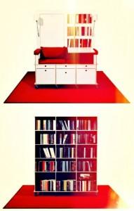 couch tisch b cherregal stauraum und ein wenig was von. Black Bedroom Furniture Sets. Home Design Ideas